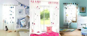 rideaux pour chambre enfant voilage chambre enfant starry voilage blanc motifs actoiles bleues