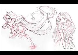 tangled sketches by goku chan on deviantart