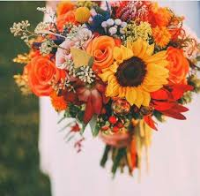 fall bridal bouquets 50 fall wedding bouquets for autumn brides autumn orange