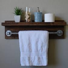 Bathroom Wall Cabinet With Towel Bar by Industrial Rustic Wall Mount Bathroom Shelf With 24