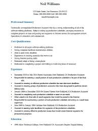 Resume Samples For Experienced Professionals Pdf by Free Professional Production Assistant Resume Template Sample