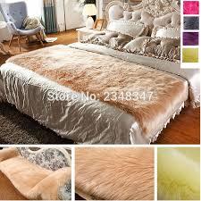 long fur artificial sheepskin rectangle fluffy sofa bed cover