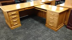 L Shaped Desk On Sale by Winners Only 6 U0027x7 U0027 Oak L Shaped Desk Used Welter Storage