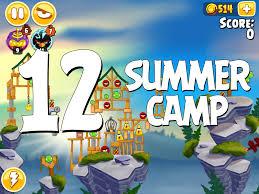 angry birds seasons summer camp level 1 12 walkthrough