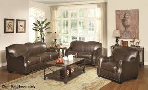 Brown Leather Loveseat Chesapeake Brown Leather Sofa And Loveseat Set Steal A Sofa