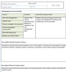 risk description template project risk management template