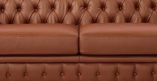 Classic Chesterfield Sofa by Chesterfield Sofa Chestnut Premium Leather Kardiel
