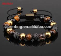 man bracelet stone images Natural brown tiger eyes stone men macrame jewelry bracelet buy jpg