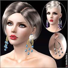 Big Chandelier Earrings Large Chandelier Earrings By Lore At Lorandia Sims 3
