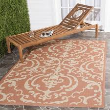 Safavieh Indoor Outdoor Rugs Safavieh Bimini Damask Terracotta Indoor Outdoor Rug 8