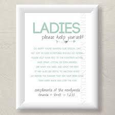 wedding bathroom basket sign best 25 wedding bathroom signs ideas