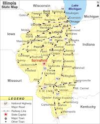Cities In Michigan Map by Illinois Map Map Of Illinois Cities And Roads