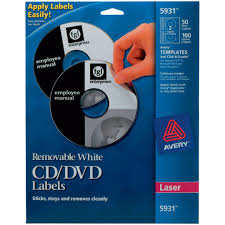 avery design pro avery 5931 white laser removable cd labels quill