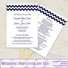Paddle Fan Program Template Diy Wedding Ceremony Programs Templates By Weddingprintablesdiy