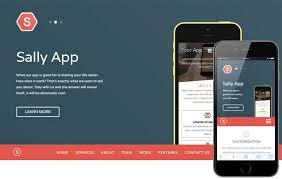 cool app websites sally blocks a mobile app based flat bootstrap responsive web