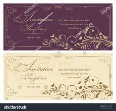 Vintage Invitation Cards Wedding Invitation Cards Baroque Style Vinous Stock Vector