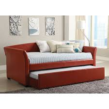 Pictures Of Trundle Beds Shop Furniture Of America Delmar Red Daybed At Lowes Com