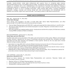 resume sales exle and free maker skills for outside account