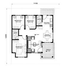 Little House Plans Free Small House Design 2015013 Floor Plan Bungalow Pinterest