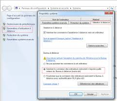 ordinateur de bureau avec windows 7 bureau à distance ou remote desktop contrôle à distance