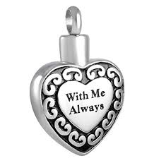 cremation jewelry for men with me always heart cremation urn jewelry stainless steel