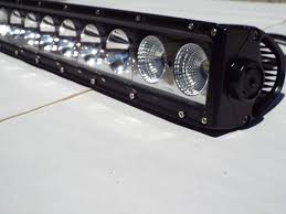 Black Led Light Bar by Tracker Series Single Row Led Light Bars Sidetracked Offroad