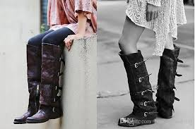 womens size 11 square toe cowboy boots vintage leather knee high boots top quality square toe flat