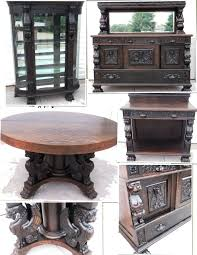 dining room china cabinets oak full winged full griffins dining table china cabinet from