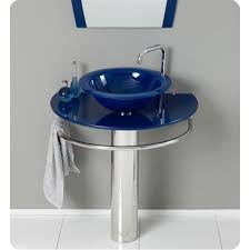 Bathroom Vanity Sink Combo by 18 Inch Bathroom Vanity 30 Inch Bathroom Vanity Blue Vessel