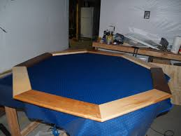 how to build a poker table ana white poker table with hiding beverage holder diy projects