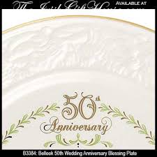 50th anniversary plates belleek blessing plate 50th wedding anniversary