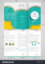 creative professional trifold brochure template flyer stock vector