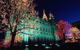 christmas light installation utah christmas lights on temple square stock photo image of religion