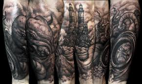 kraken sleeve tattoo by danielpokorny on deviantart