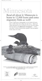 national loon yearbook readership house ads minnesota newspaper association impressed