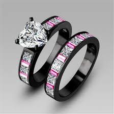 black bridal sets black diamond wedding ring set wedding photography