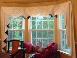 Kitchen Bay Window Curtain Ideas Decorating Interesting Bay Window Curtain Rod With Tropical