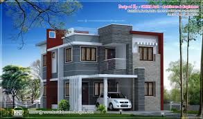 Different House Designs by House Exterior Elevation Modern Style Kerala Home Design And Floor