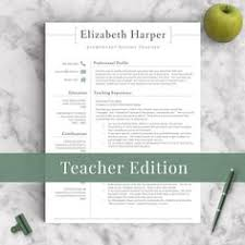 in love with this adorable teacher resume template professional