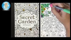 Secret Garden By Johanna Basford Coloring Book Postcards
