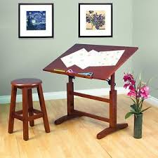 Architect Drafting Table Wooden Drafting Table Crafts Stool Drawing Desk Solid Wood
