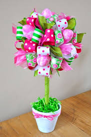 easter ribbon easter egg and ribbon topiary