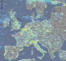 Amsterdam Map Europe by Map Showing Light Pollution Across Europe Maps U0026 Cartographic