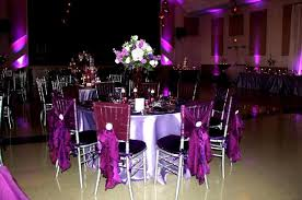 purple chair covers event design company party rental draping