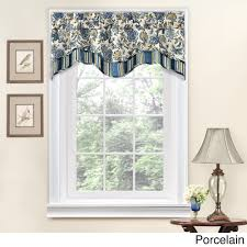 traditions by waverly navarra floral window valance onyx black