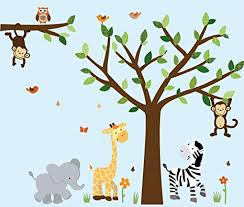 Safari Nursery Wall Decals Safari Pride Jungle Tree Wall Decals Jungle Stickers