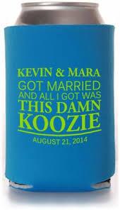 wedding can koozies 22 monogrammed wedding items monogram wedding wedding koozies