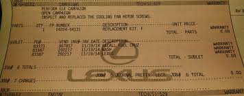 lexus is recall 2014 cooling fan recall clublexus lexus forum discussion