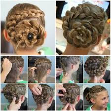 hairstyles with steps amazing flower hairstyles step by step instructions rank nepal