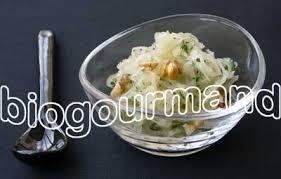 cuisiner choucroute crue salade de choucroute à l huile de noix cuisine bio recettes